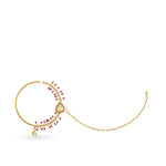 Gold Plated kundan nose ring