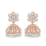 Cubic zirconia jhumki earrings.