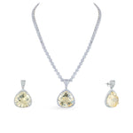 Cubic zirconia necklace with matching earrings.