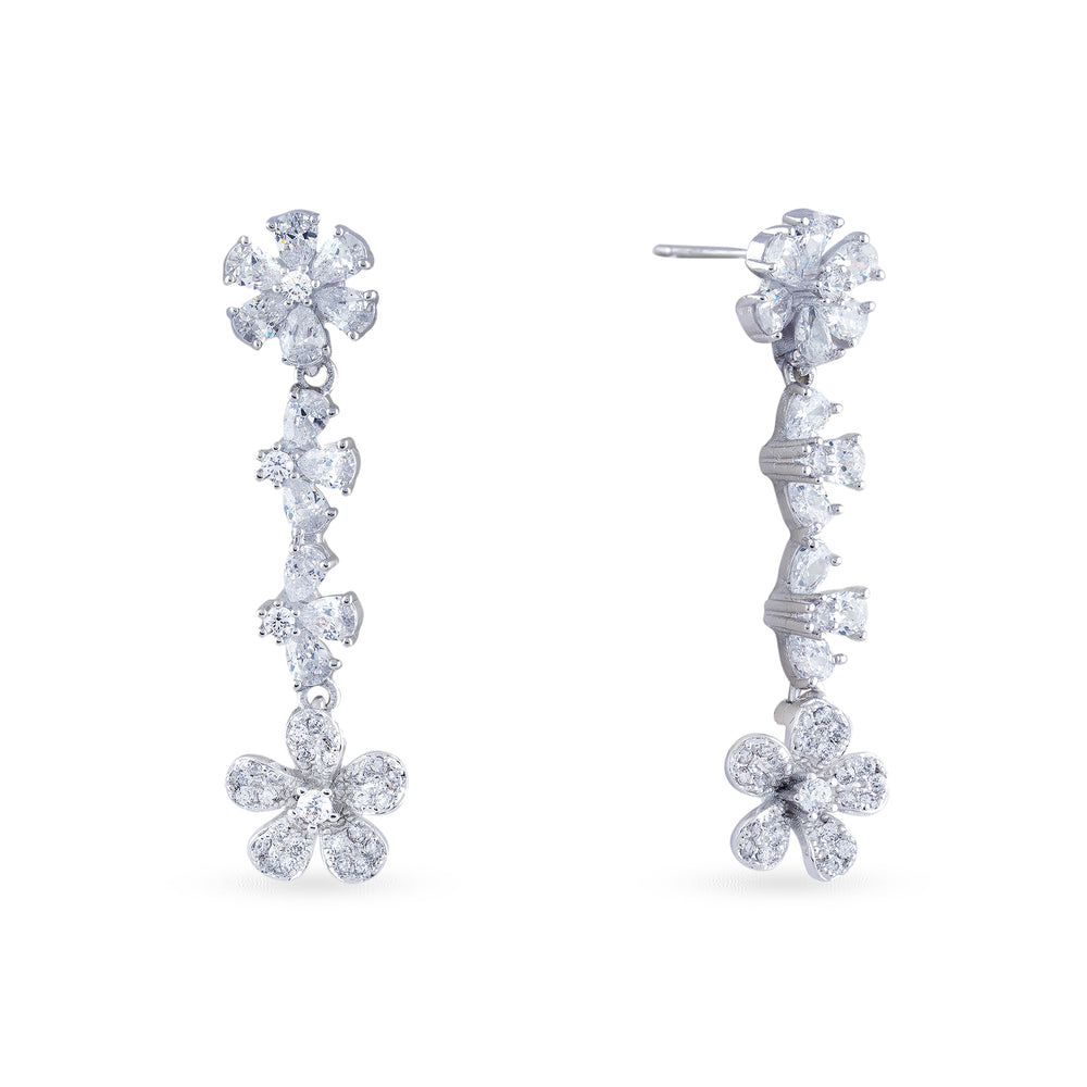 Load image into Gallery viewer, Cubic zirconia haar with matching earrings.