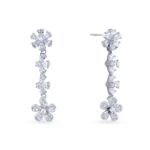 Cubic zirconia haar with matching earrings.