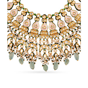 Load image into Gallery viewer, Emerie Kundan necklace set