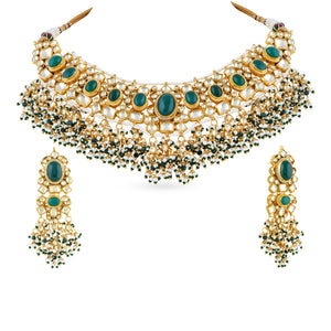 Load image into Gallery viewer, Kamila kundan necklace set