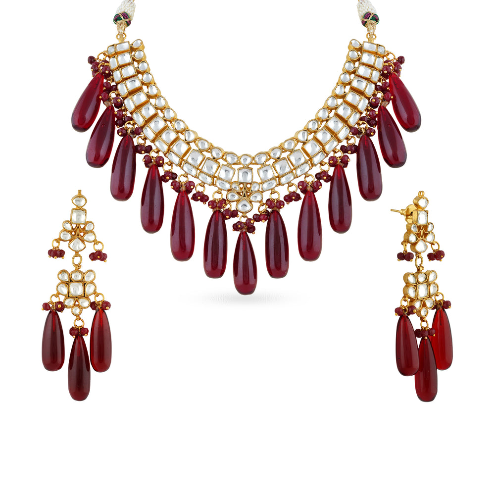 Kaliyah kundan necklace set