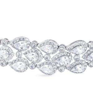 Load image into Gallery viewer,  Cubic zirconia choker with matching earrings.