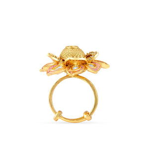 Load image into Gallery viewer, Gold plated kundan ring.