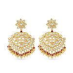 Gold plated kundan earrings.