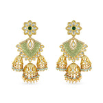 Joelle Kundan and meenakari earrings