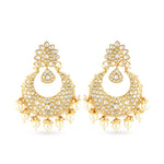 Gold plated chaandbaali earrings.