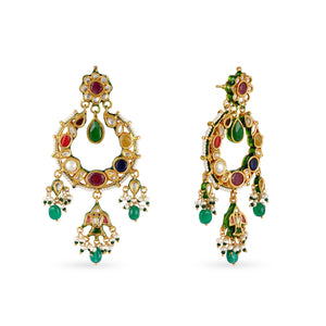 Load image into Gallery viewer, Amara Navratna Earrings