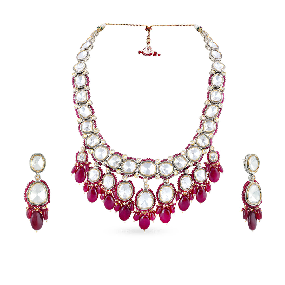 Load image into Gallery viewer, Kate long kundan necklace