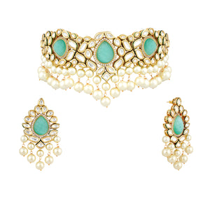 Load image into Gallery viewer, Jaelyn kundan choker set