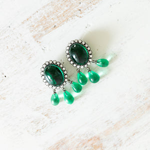 Sabyasachi inspired Emerald Choker earrings set. Indian Jewellery in Scotland