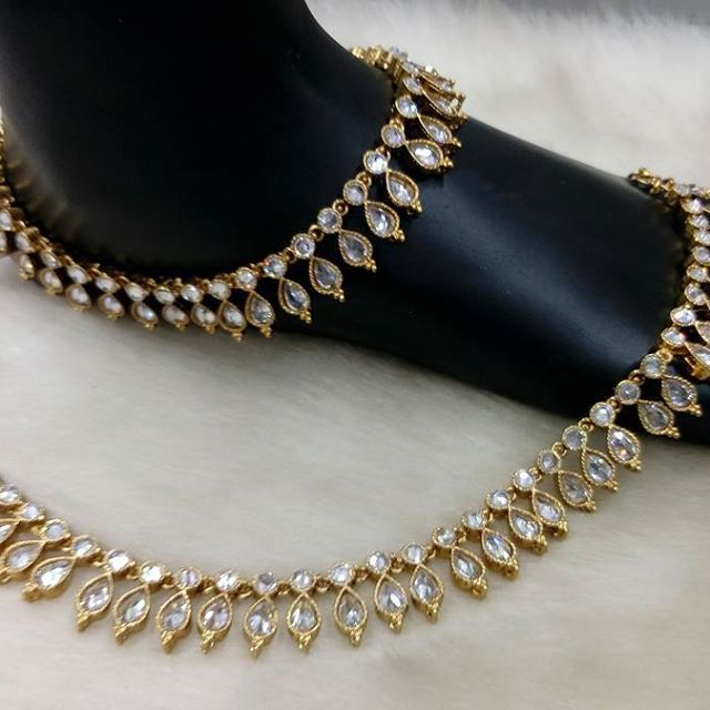 crystal anklet paayal - gaye holud jewellery uk london scotland