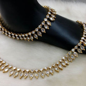 Load image into Gallery viewer, crystal anklet paayal - gaye holud jewellery uk london scotland