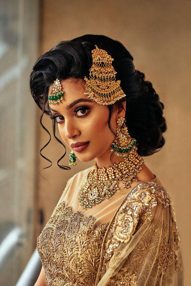 kundan necklace and jhoomar set as seen on aamir naveed campaign