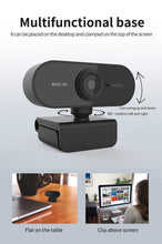Load image into Gallery viewer, HD 1080P Webcam Mini Computer PC WebCamera with Microphone Rotatable Cameras for Live Broadcast Video Calling Conference Work