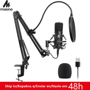 MAONO AU-A04 USB Microphone Kit 192KHZ/24BIT Professional Podcast Condenser Mic for PC Karaoke Youtube Studio Recording Mikrofon