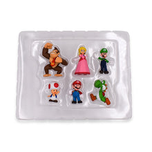 Load image into Gallery viewer, 6Pcs/Set 3-7cm Super Mario Bros PVC Action Figure Toys Dolls Mario Luigi Yoshi Mushroom Donkey Kong In Gift Box Lovely Kids Gift