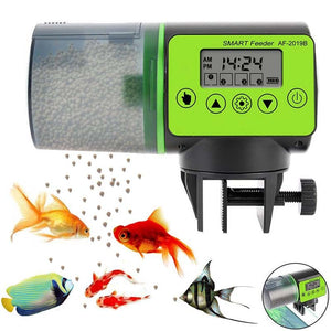 Smart Aquarium mini Automatic Fish Feeder Vacation Auto Fish Tank Feeders With Timer Pet Feeding Dispenser LCD Fish Feeder Tool