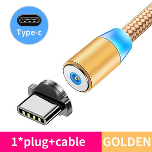 Magnetic Cable lighting 2.4A Fast Charge Micro USB Cable Type C Magnet Charger 1M Braided Phone Cable for iPhone Xs Samsung Wire