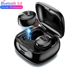 Load image into Gallery viewer, TWS Wireless Headphones 5.0 True Bluetooth Earbuds IPX5 Waterproof Sports Earpiece 3D Stereo Sound Earphones with Charging Box
