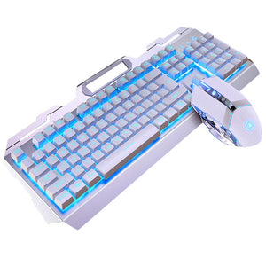 Gaming Mechanical Feel Keyboard And Mouse Headset Earphone Three-piece Suit Desktop PC game 2400 DPI Macro Mouse USB Wired