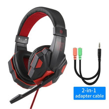 Load image into Gallery viewer, Professional Led Light Gaming Headphones for Computer PS4 Adjustable Bass Stereo PC Gamer Over Ear Wired Headset With Mic Gifts