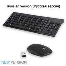 Load image into Gallery viewer, SeenDa 2.4G Wireless Silent Keyboard and Mouse Mini Multimedia Full-size Keyboard Mouse Combo Set For Notebook Laptop Desktop PC