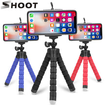 Load image into Gallery viewer, SHOOT Mini Flexible Sponge Octopus Tripod for iPhone Samsung Xiaomi Huawei Mobile Phone Smartphone Tripod for Gopro 8 7 5 Camera