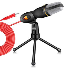 Load image into Gallery viewer, New Condenser Microphone 3.5mm Plug Home Stereo MIC Desktop Tripod for PC YouTube Video Skype Chatting Gaming Podcast Recording