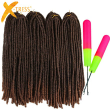 Load image into Gallery viewer, X-TRESS Soft Dreadlocks Crochet Braids Jumbo Dread Hairstyle Ombre Color Synthetic Faux Locs Braiding Hair Extensions For Women