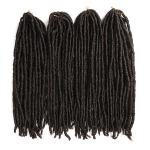 X-TRESS Soft Dreadlocks Crochet Braids Jumbo Dread Hairstyle Ombre Color Synthetic Faux Locs Braiding Hair Extensions For Women