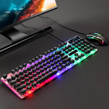 Load image into Gallery viewer, GTX300 USB Wired Colorful LED Backlit Gaming Keyboard with Mouse for PC Laptop Backlit Wired keyboard for pro gamer