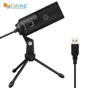 Fifine Metal USB Condenser Recording Microphone For Laptop  Windows Cardioid Studio Recording Vocals  Voice Over,YouTube-K669