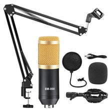 Load image into Gallery viewer, bm 800 Microphone Studio Recording Kits bm800 Condenser Microphone for Computer Phantom Power bm-800 Karaoke mic Sound Card