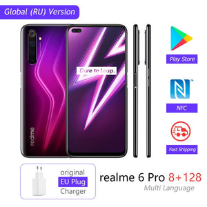 realme 6 Pro Global Version Mobile Phone 8GB RAM 128GB ROM 6Pro Snapdragon 720G 90Hz Display 30W Flash Charge 4300mAh Cellphone