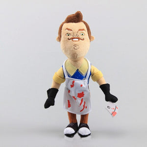 30-40cm new hello my neighbor plush toy apron cleaver soft stuffed plush doll for kids boys girls birthday gifts WJ557