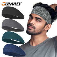 Load image into Gallery viewer, Sport Headband Running Fitness Sweatband Elastic Absorbent Sweat Cycling Jog Tennis Yoga Gym Head Band Hair Bandage Men Women