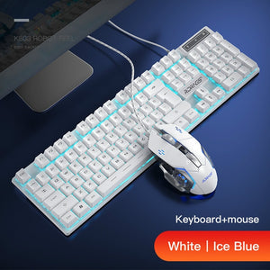 Gaming keyboard and Mouse Wired backlight keyboard mechanical keyboard Gamer kit Silent 3200DPI Gaming Mouse Set for PC Laptop