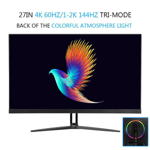 24/32 Inch LCD Monitor For Computer 144Hz PC Desktop  Home Office Monitoring HD  Screen Full Color Display Game Without Borders