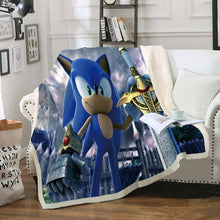 Load image into Gallery viewer, 3D Blanket Sofa Throw Blanket Cartoon Mario Blanket for Kids Car Travel Nap Blanket Sonic Blanket for Beds children
