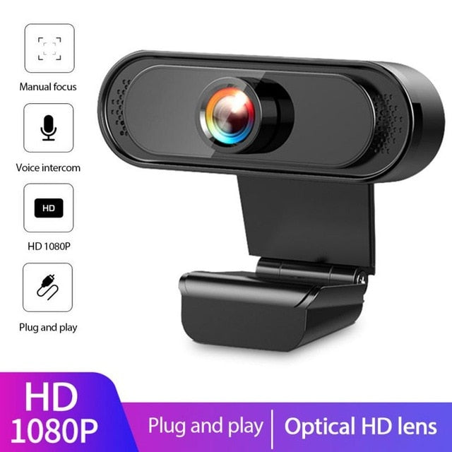 USB 2.0 Genuine Full HD 1080P Webcam Camera Digital Web Cam With Mircophone For Pc Computer Laptop Auto Focus Webcam Camera
