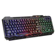 Load image into Gallery viewer, Keyboard And Mouse Gaming Luminous Mouse Keyboard KIT USB Wired Waterproof Multi-Media LED Mouse And Keyboard Combo For PC Gamer