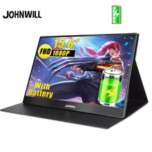 Load image into Gallery viewer, portable monitor 15.6 inch touch battery type usb-c hdmi ips lcd 1080p pc gaming display for ps4 laptop switch xbox