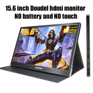 portable monitor 15.6 inch touch battery type usb-c hdmi ips lcd 1080p pc gaming display for ps4 laptop switch xbox