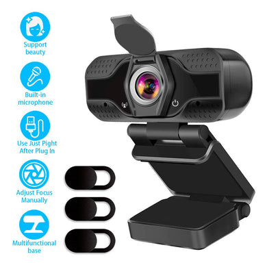 Full HD Webcam 1080P USB Web Camera PC with Built-in Microphone for Computer Work Online Class Broadcast web cam
