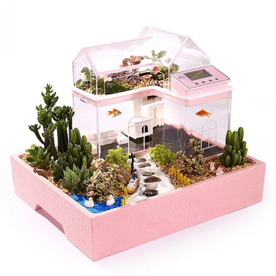 Creative Fish Tank Small Aquarium Ecological Home Decoration Child kid DIY Succulents princess prince house garden fairy dream