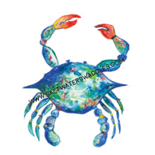Load image into Gallery viewer, Print: Blue Charleston Crab