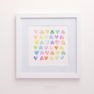 Hearts Artwork Print